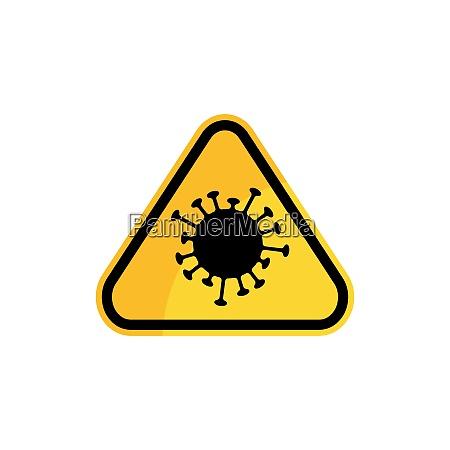 coronavirus covid 19 prohibition sign flat