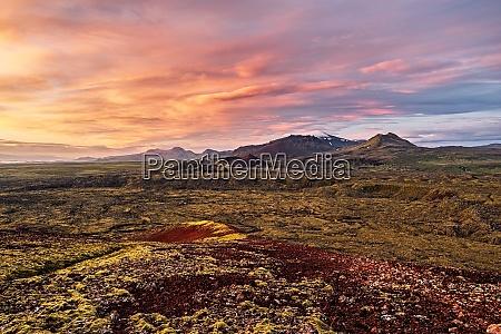 grundarfjordur mountains at sunrise iceland