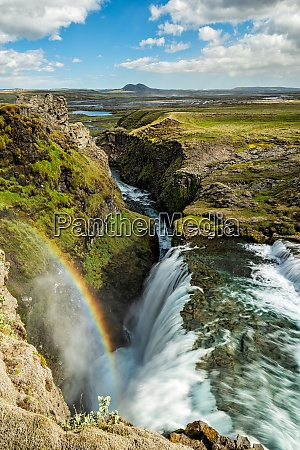 huldufoss waterfall iceland