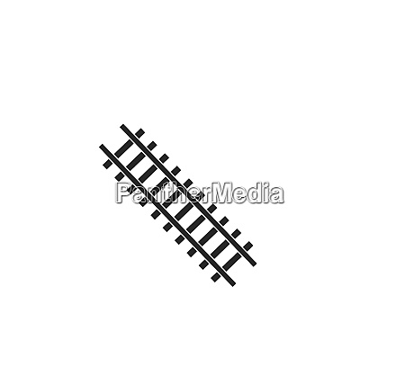 rail way track vector illustration design