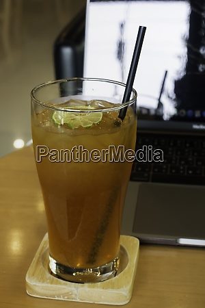 homemade iced tea with lemon