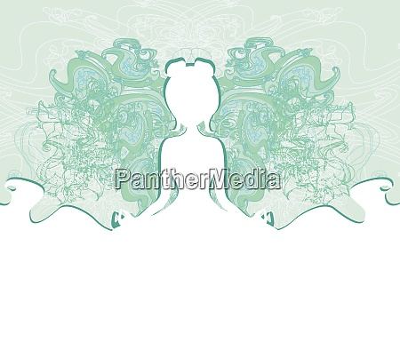 girl in lotus position abstract