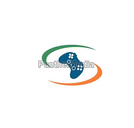video game controller logo icon vector