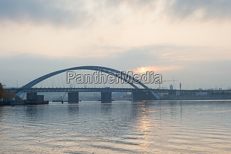 podilskyi bridge dnipro river kyiv