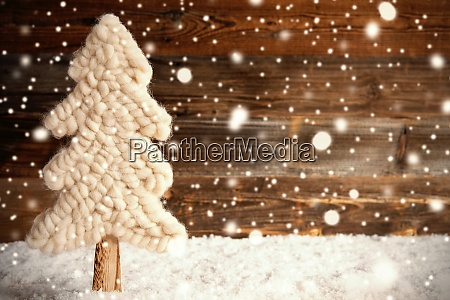 white fabric christmas tree snow copy