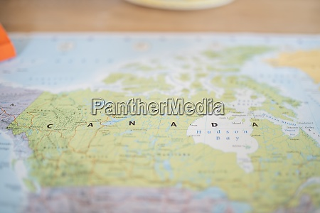 the country of canada on a