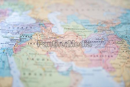syria iraq iran and afganistan on