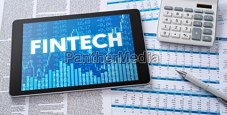 a tablet with financial documents