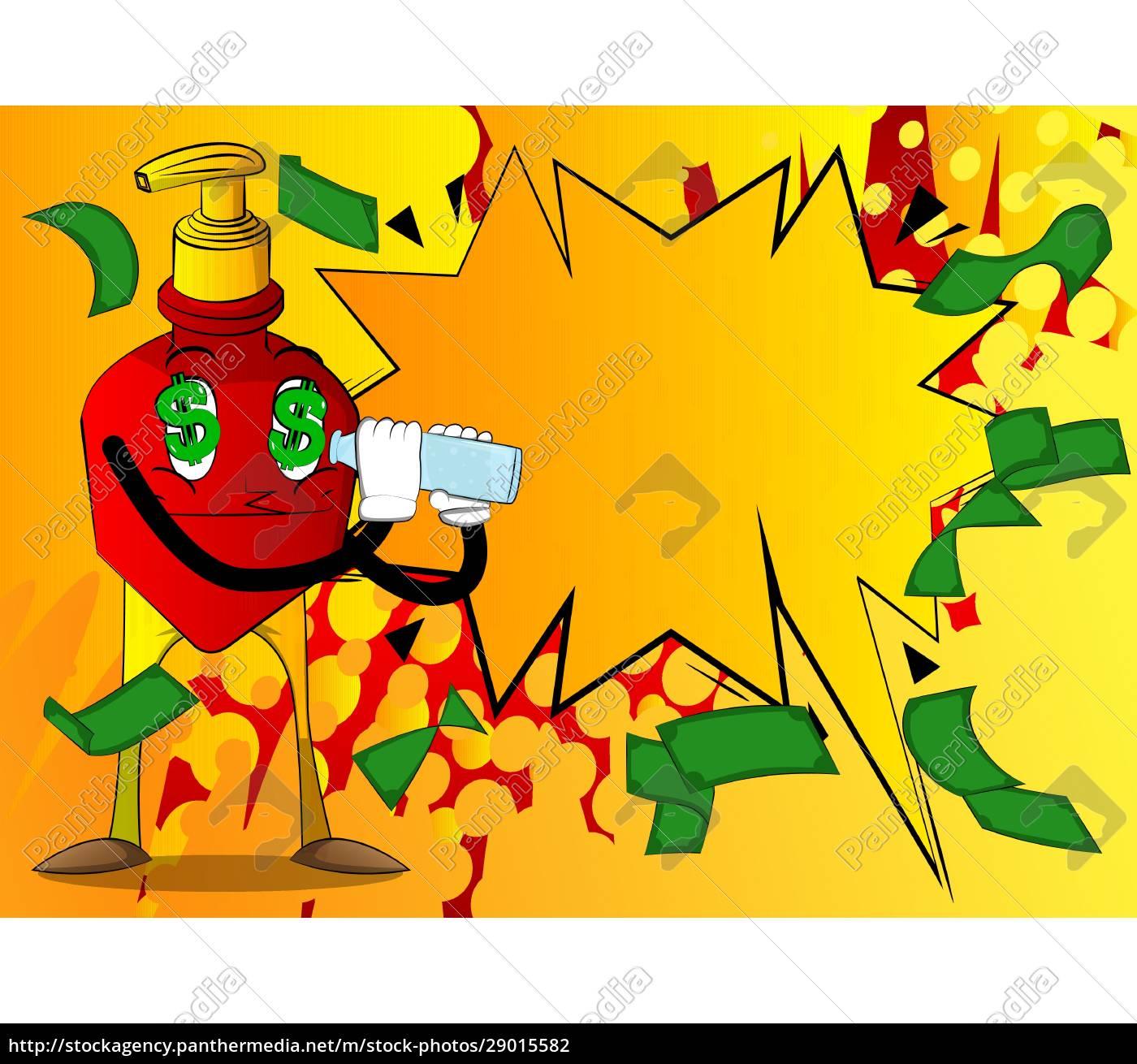 bottle, of, hand, sanitizer, gel, holding - 29015582