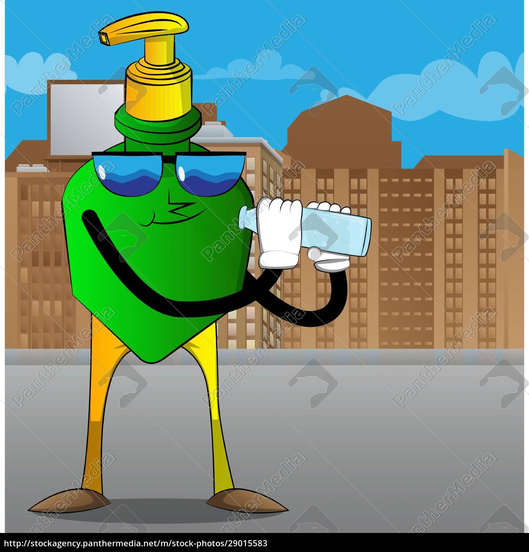 bottle, of, hand, sanitizer, gel, holding - 29015583
