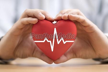 heart pulse in hands health insurance