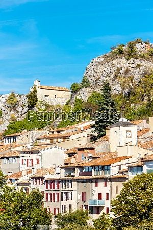 aiguines in central provence france