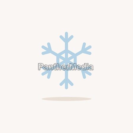 snowflafe color icon with shadow weather