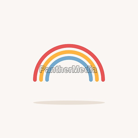 rainbow color icon with shadow weather