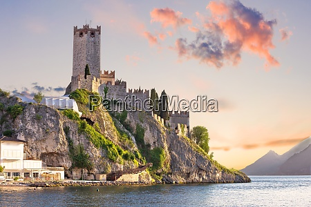 town of malcesine castle and waterfront