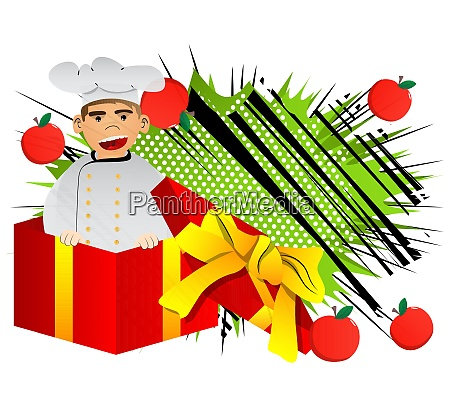 chef in uniform in a gift