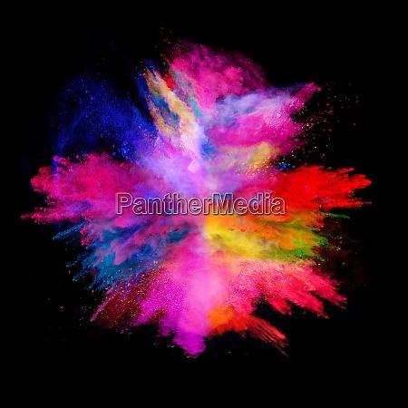 explosion color black background