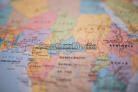 central african republic on a colorful