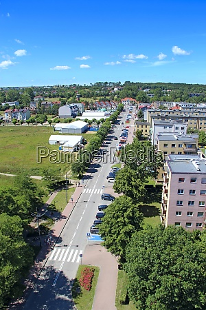 panorama of wladislawowo town from above