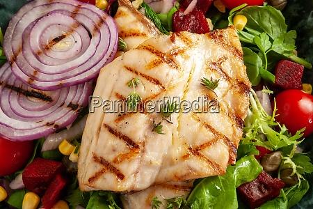 tasty fish salad