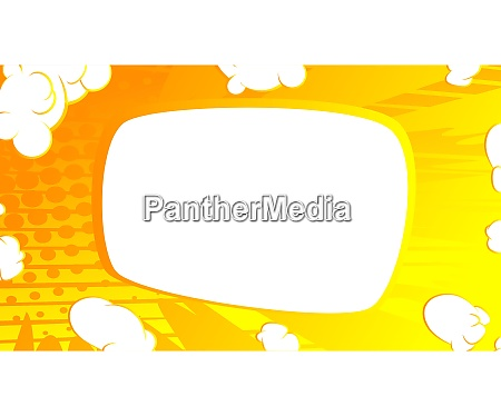 cartoon design colored background with blank