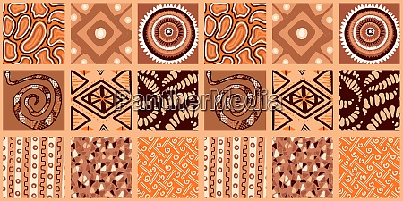 african print seamless vector pattern in