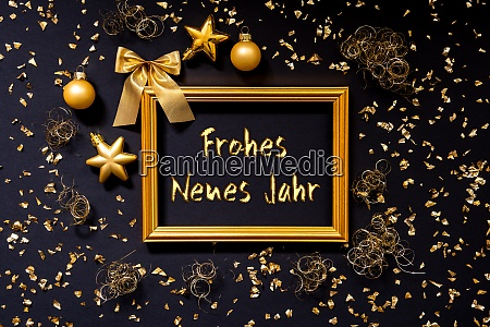 frame golden christmas decoration ball frohes