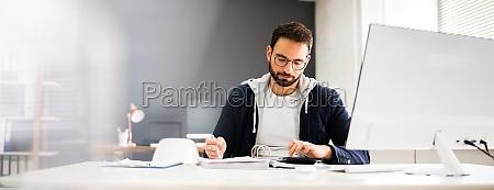 tax accountant advisor using computer