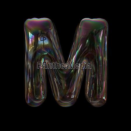 soap bubble letter m capital