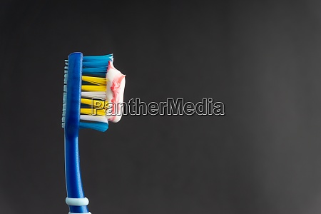 toothbrush closeup on white background healthy