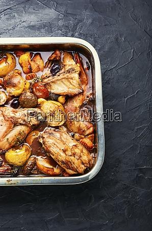 appetizing rabbit stew