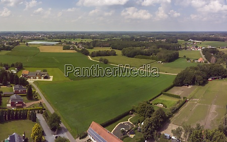 aerial panorama view on a countryside