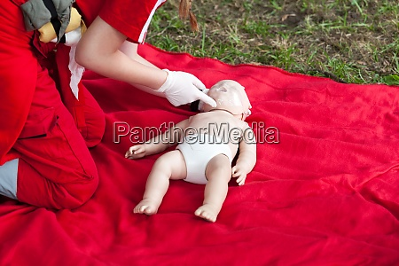 baby cpr dummy first aid training