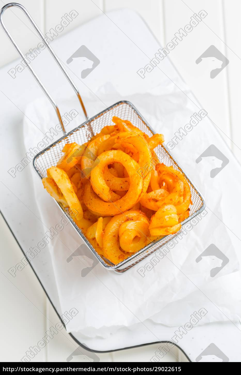 spicy, seasoned, curly, fries., ready, to - 29022615