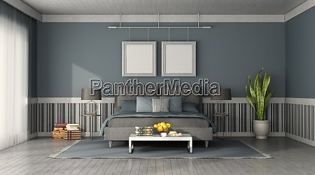 front view of a modern bedroom