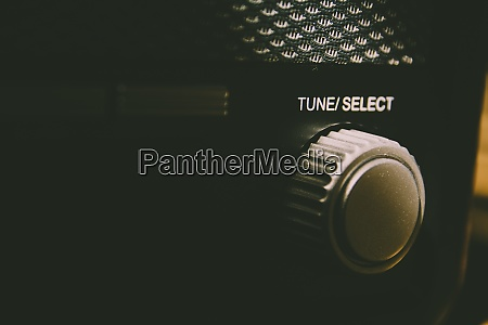 tune select button on a vintage