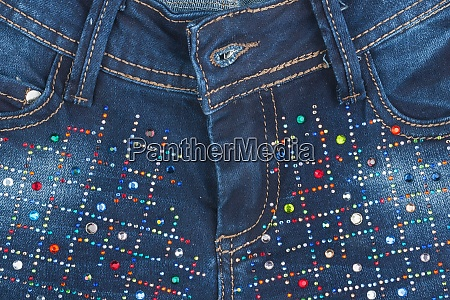 jeans with pockets close up