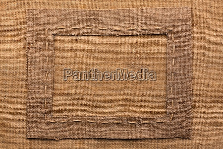 frame of burlap lies on a