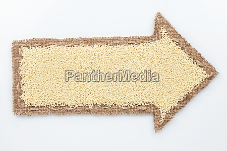 pointer with millet grains