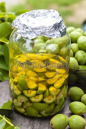 still life of walnut liqueur