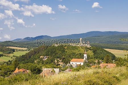 castle of nograd region nothern hungary
