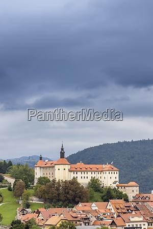 skofja loka castle and town in