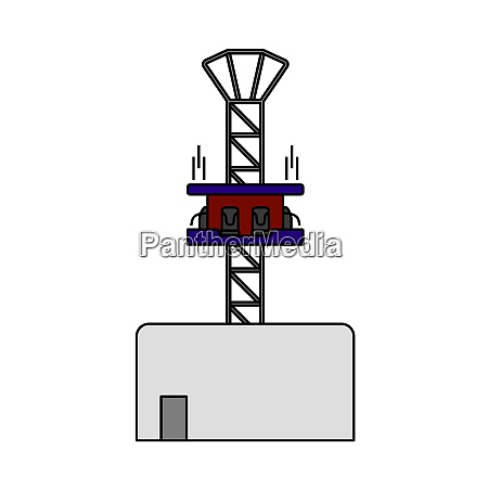 free fall ride icon