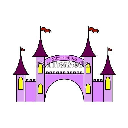 amusement park entrance icon