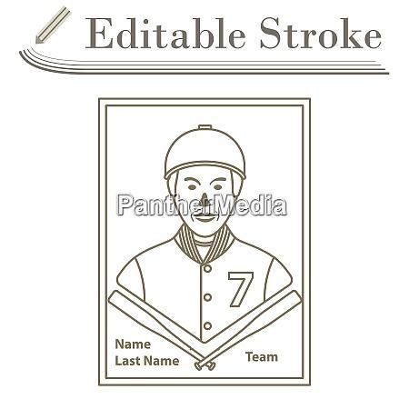 baseball card icon