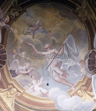 ascension of christ fresco in the