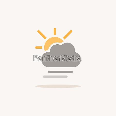 soft fog cloud and sun color