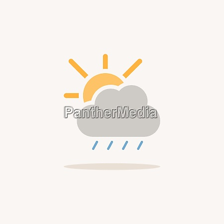 soft rain cloud and sun color
