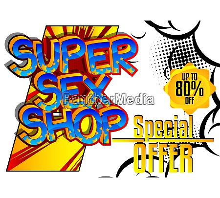 super sex shop comic book style