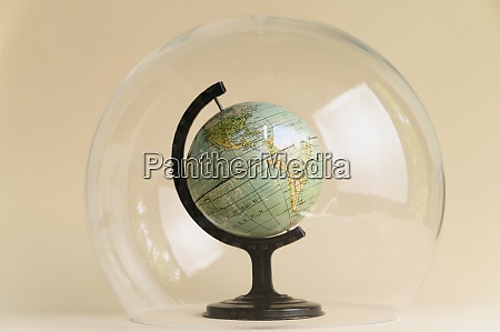 globe in glass dome